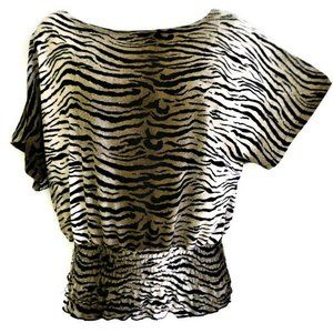 Isabella Rodriguez Animal Tiger Dolman Smocked M